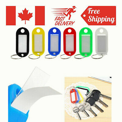 5 Pack Pawfly Key ID Label Tags with Keyring Assorted Colors Split Keychain