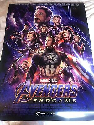 Avengers: Endgame Theatrical Poster DS 27x40 near mint Brand New Never Used.