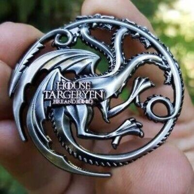 Game of Thrones House Targaryen Poker Card Guard Chip Protector Golf Marker Coin