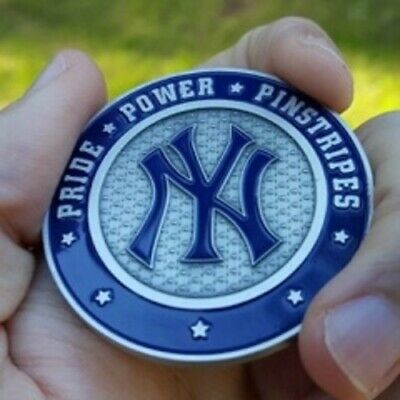 PREMIUM MLB New York Yankees Poker Card Guard Chip Protector Golf Marker Coin