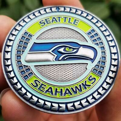 PREMIUM NFL Seattle Seahawks Poker Card Guard Chip Protector Golf Marker Coin