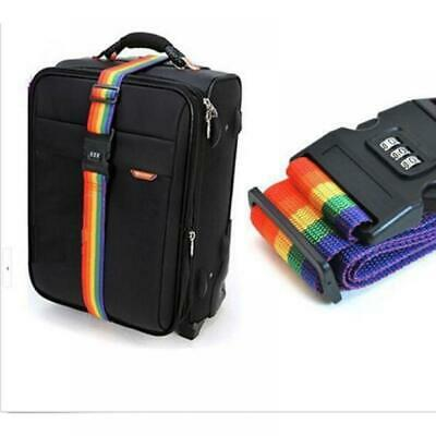 New 4 Travel Luggage Suitcase Strap Baggage Backpack Bag Rainbow Colour Belt