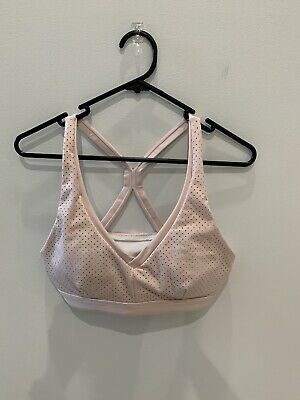 Rockwear Pink Perforated Low Support Sports Bra Size 12