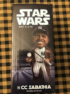 New York Yankees CC Sabathia Jedi Star Wars Day Baseball Bobble Head 5-4-19