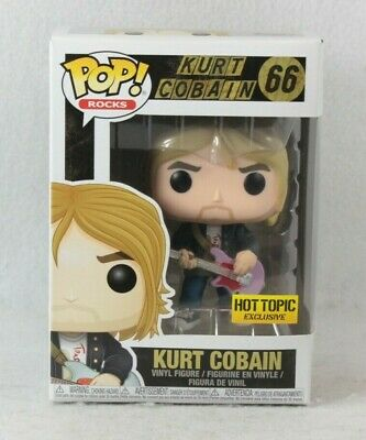 Funko Pop Rocks Hot Topic Exclusive KURT COBAIN Vinyl Figure 66 Nirvana