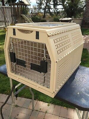 """Nylabone 21""""x16""""x15"""" Medium Folding Collapsible Pet Dog Crate Kennel Carrier"""