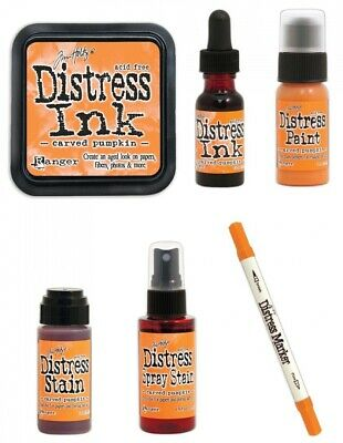 Tim Holtz Ranger Distress - Carved Pumpkin Complete Bundle - October 2015