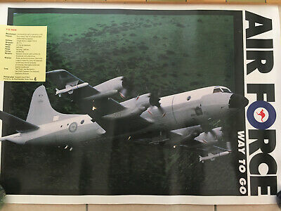 "Vintage RAAF Poster Lockheed P-3C Orion ""AIR FORCE WAY TO GO"""