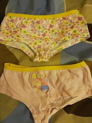 set of 2 Girls Peppa Pig Underwear 2-3 years