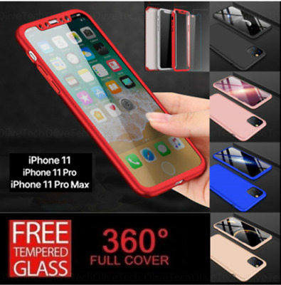 360 Hybrid Shockproof Case Cover for iPhone 7 8 X XS Max Samsung S8 S9 S10 Plus