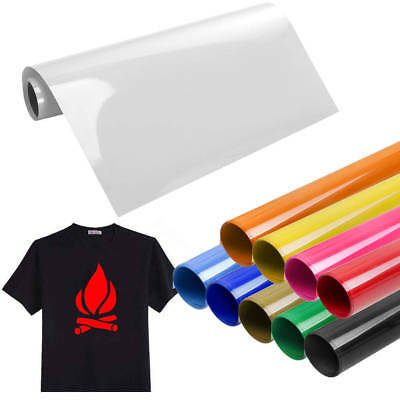 Vinyl Roll PU Heat Transfer Iron-on Heat Press PU HTV T-Shirt Fabrics Film NEW