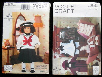 """Vogue 8647 OOP 18/"""" Doll w Outfit /& Transfer Pattern"""