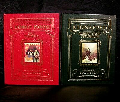 Easton Press Kidnapped & Robin Hood ~ 1991 Leather Bound Illustrated