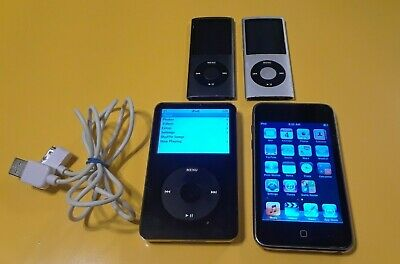 Apple iPod Classic lot 5th Generation 30GB Black + Touch and more lot ma146ty