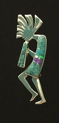 Beautiful Cathy Webster Signed Sterling Silver Kokopelli Pin Brooch (H132)