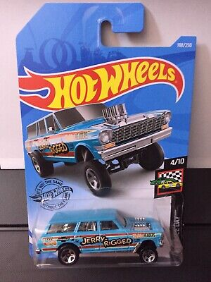 Set 2 2019 Hot Wheels '64 Nova Wagon Gasser Jerry Rigged #198 Hw Race Day 1964