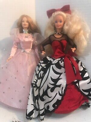 Lot Of Two Barbie Dolls Midnight Dazzle And Wizard Of Oz Doll