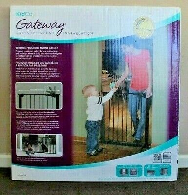 """Kidco Gateway Baby Pet Pressure Mounted Safety Gate Black G1001 29"""" - 37"""" Wide"""
