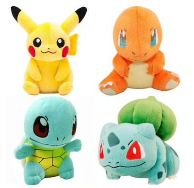 Hot Kids Gift Pokemon 4pcs Plush Soft Toys Pikachu Bulbasaur Squirtle Charmander