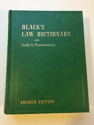 Black's Law Dictionary With Guide to Pronunciation Fourth Edition 1957