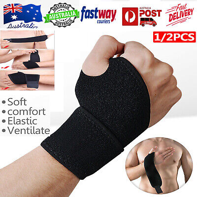 2019 Wrist Guard Band Brace Support Carpal Tunnel Rsi Pain Relief Gym Strap Oz
