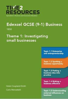 GCSE (9-1) Edexcel Business Theme 1 Investigating Small Businesses Course Guide