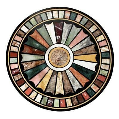 """24"""" Marble Table Top Pietra Dura Floral Art Handmade Crafts Home Furniture"""