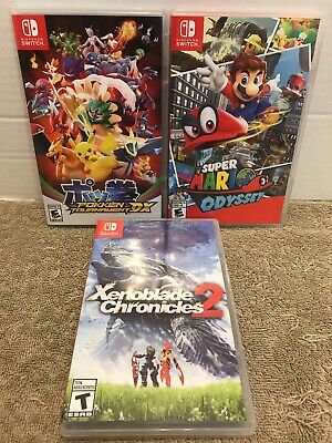 LOT of 3 Cases Mario Pokken (Nintendo Switch) REPLACEMENT CASE ONLY NO GAMES