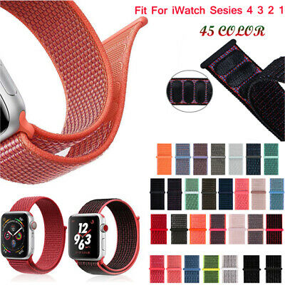 Woven Flash Sport Loop Nylon Band For Apple iWatch Series 4 3 2 1 38/42/44mm