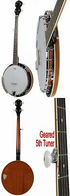 Banjo 5 String Full Size w/ Closed Back 24 Brackets Remo Head Maple Neck New US