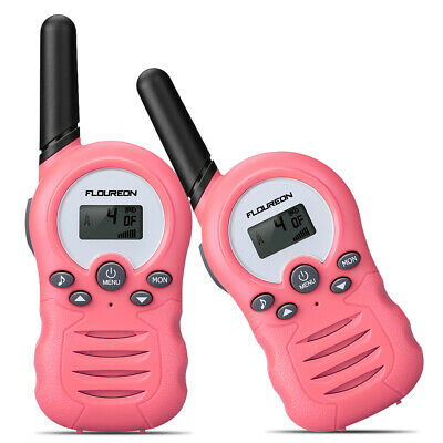 Floureon 8 Chaînes Walkie Talkies PMR446 2 Way Radio 3300M Jouet Jeu Enfant Rose