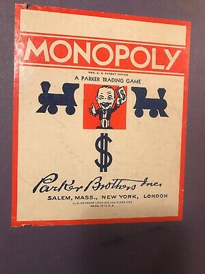 Rare  c.1940's  Vintage Monopoly Board Game ALL WOOD PIECES Complete Set  NO Box