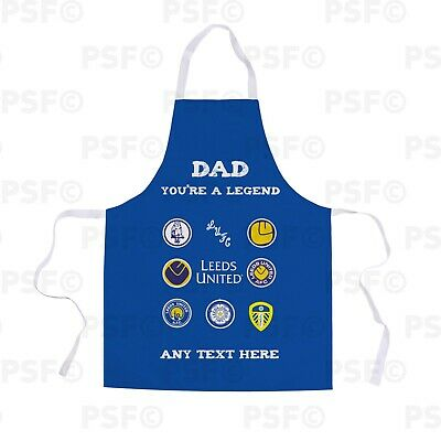 Leeds United FC Official Personalised Dad Legend Fathers Day Retro Apron LA015