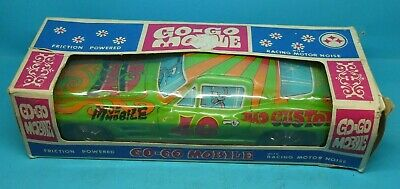 1969 GO GO MOBILE Friction Powered Corvette JAPAN TIN PLATE TOY CAR With BOX