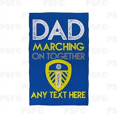 Leeds United FC Official Personalised Fathers Day Dad MOT Beach Towel LBT033
