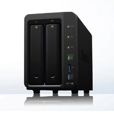 "Synology DiskStation DS718+ 2-Bay 3.5"" Diskless 2xGbE NAS (Scalable) (SMB),"