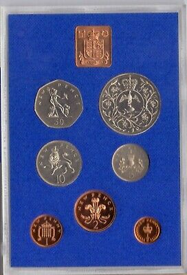 1977 Royal Mint Decimal Coinage Proof Set Perspex case 7 coins Collection
