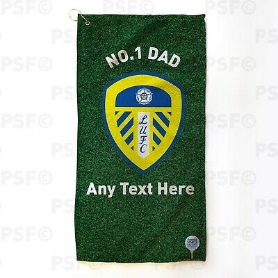 Leeds United FC Official Personalised No.1 Dad Father's Day Golf Towel LGT015