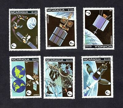 Nicaragua 6 Timbres Neuf Cosmos/Espace/Fusee 1981