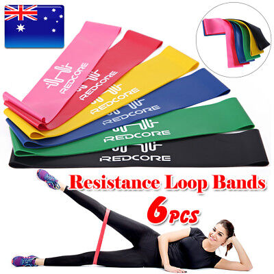 6PCS Resistance Bands Power Heavy Strength Exercise Fitness Gym Crossfit Yoga