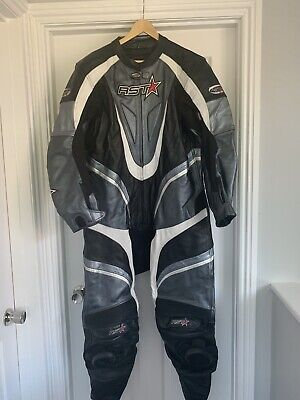 Rst Motorcycle All In One Leathers Size Uk 50 Very Good Condition