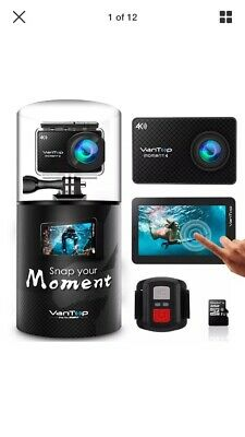 Brand New Vantop Moment 4 4K 20Mp 30M Waterproof Action Camera With Touch Screen