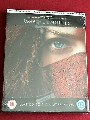 MORTAL ENGINES Steelbook [UK] | 4K + 3D + 2D | New & Sealed