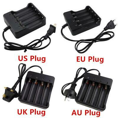 4 Slots Rechargeable 18650 Li-ion Battery Charger for 4X 3.7v AU Plug Batteries