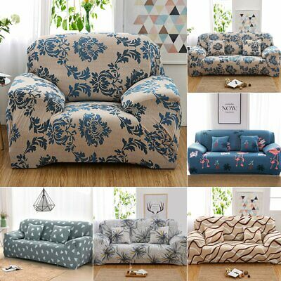 Floral Sofa Covers Stretch Chair Armchair Slipcover Cover Protector 1-4 Seaters