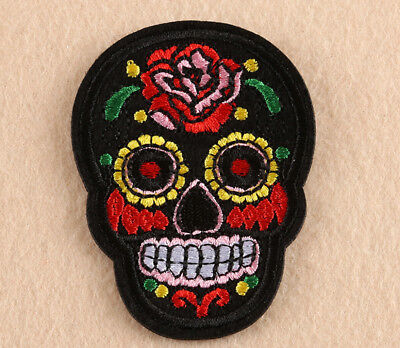 Black Mask Embroidery DIY Sew Iron On Patch Badge Clothes Decor Fabric Applique