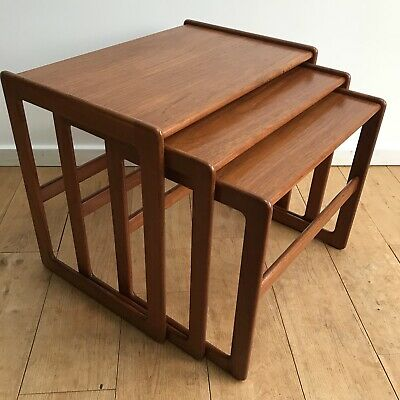Vintage Teak Nest Of Tables Mogens Kold Arne Hovmand-Olsen Nationwide Delivery