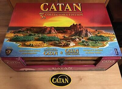 Settlers of Catan 10th Anniversary 3D Collector's Edition Limited Board Game