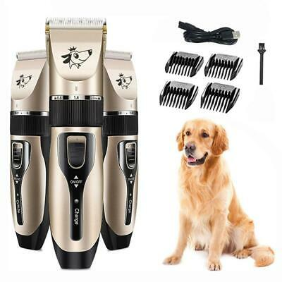 Electric Cat Dog Clipper Cordless Pet Clippers Hair Shaver Grooming Trimmer Tool