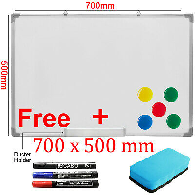 700 x 500mm Dry Wipe Magnetic Whiteboard Office School Home Notice Drawing Board